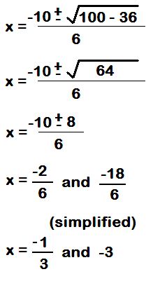 How to find the roots of an quadratic equation with calculator.