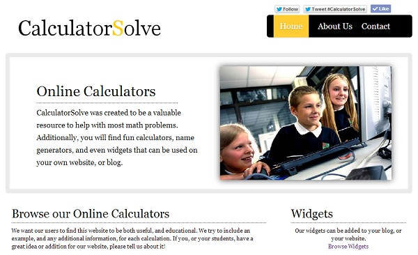online calculator - CalculatorSolve