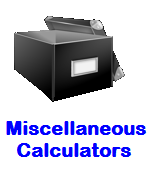 Miscellaneous Online Calculators
